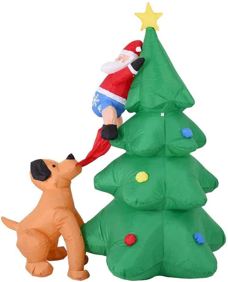 Babbo Natale e albero