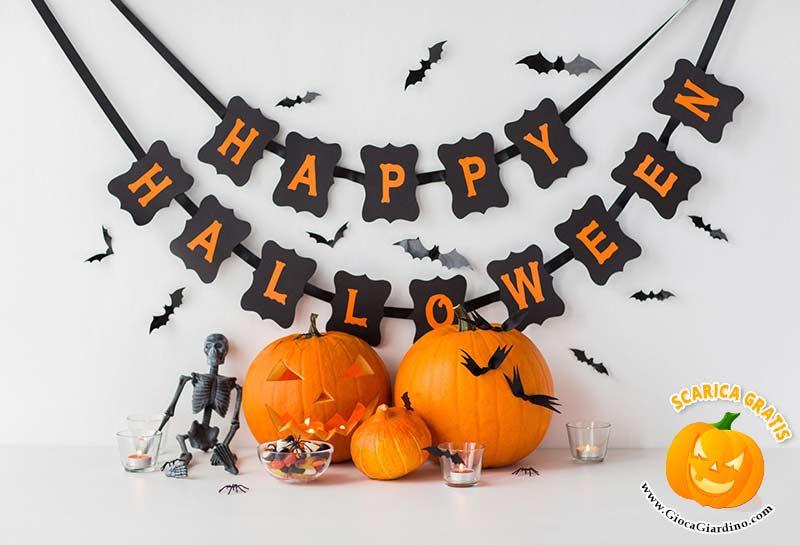 Decorazioni e festoni di Halloween da stampare
