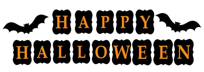 Festone Happy Halloween da stampare - arancione e nero