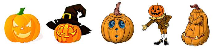 zucche da stampare - decorazioni di Halloween